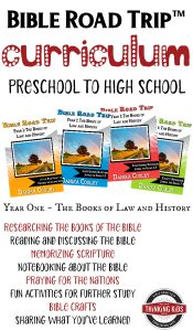 Check out this great Bible curriculum for preschool to high school! Bible Road Trip™ lets me teach the Bible to all my kids at once!