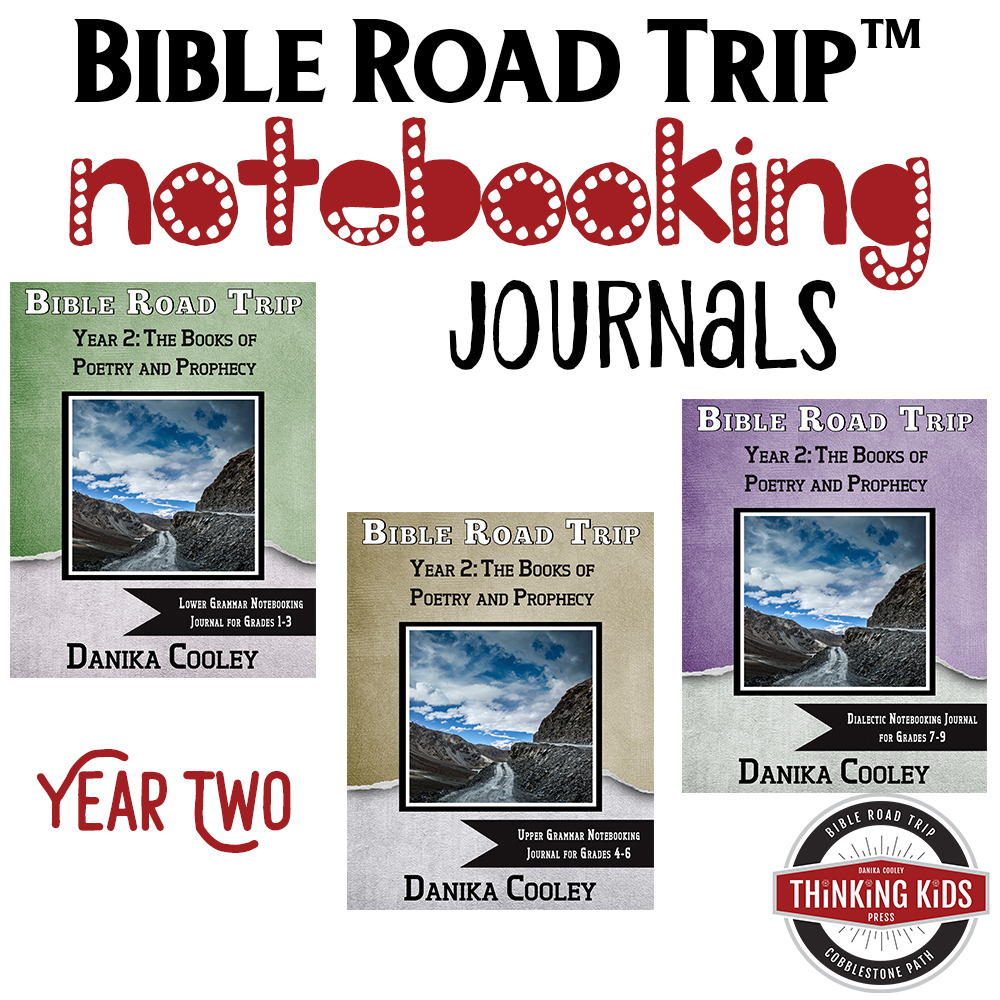 Bible Road Trip Year One Bible Notebooking Journals help kids take great note on what they've learned about the Bible. These are awesome!