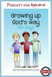 Growing Up God's Way for Boys is perfect for 10-14 year olds!