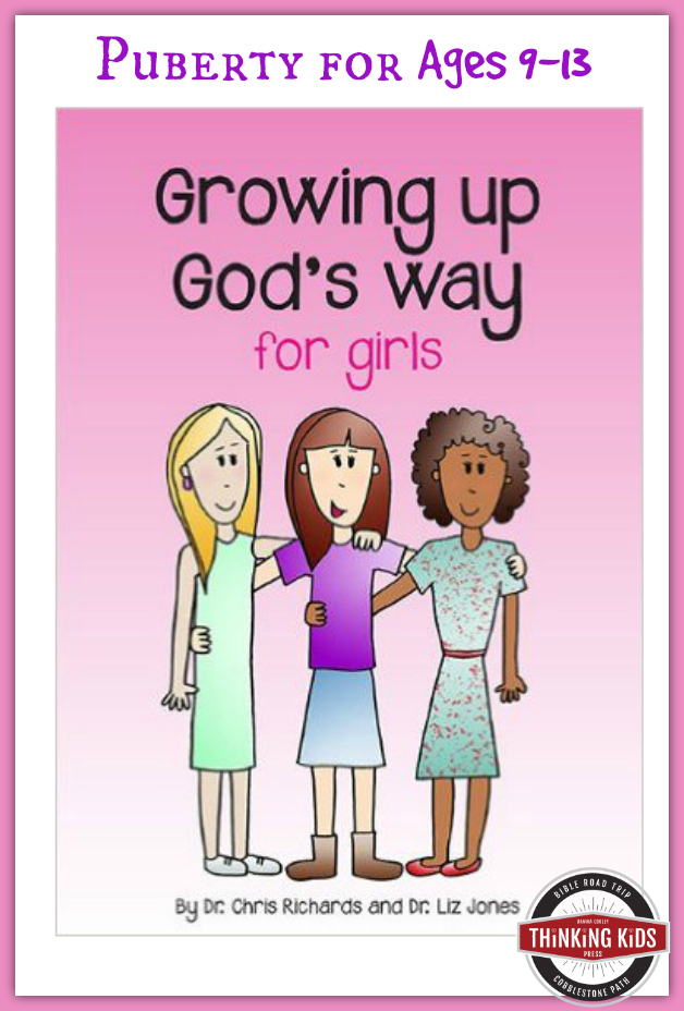 Growing Up God's Way for Girls is perfect for 9-13 year olds!