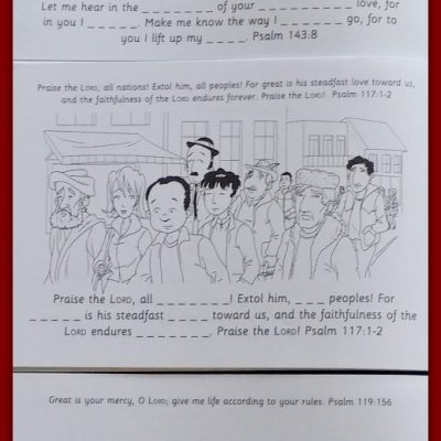 Colour the Psalms ~ Scripture Coloring for Kids