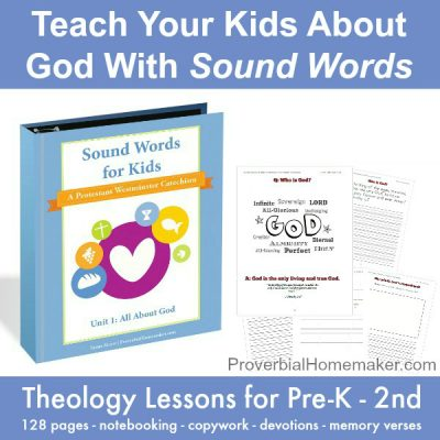 Theology Curriculum for PreK-2nd Grade