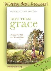 Join us as we continue our discussions on Give Them Grace on the blog and in the Family Discipleship Facebook group!