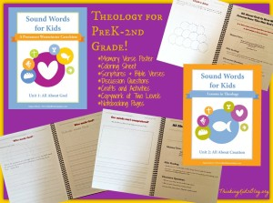 Check out this great curriculum to teach theology to kids from preschool to second grade!