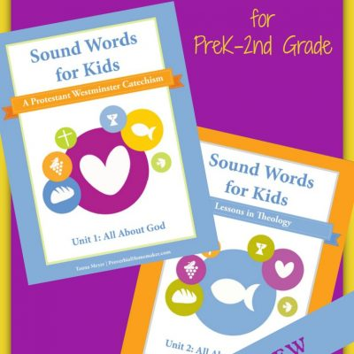 Sound Words ~ A Protestant Westminster Catechism for PreK-2nd Grade by Tauna Meyer