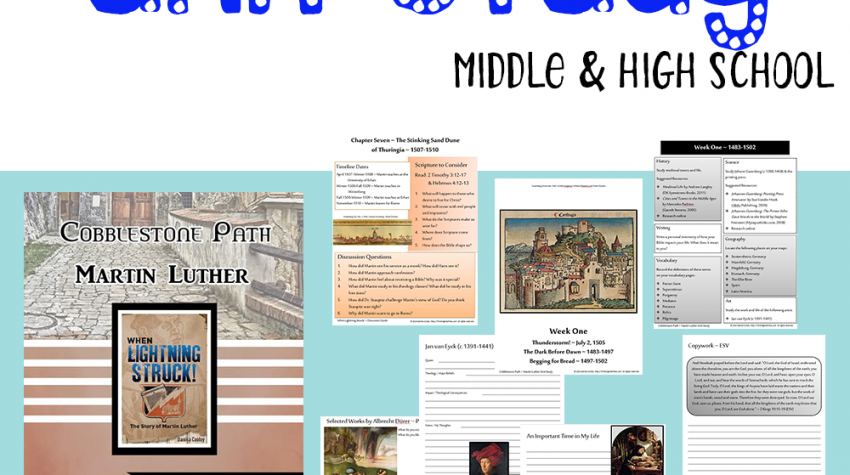 Martin Luther of the Reformation Unit Study