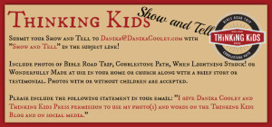 Does your family use Bible Road Trip, Cobblestone Path, or books written by Danika Cooley? Come join the Thinking Kids Show and Tell!