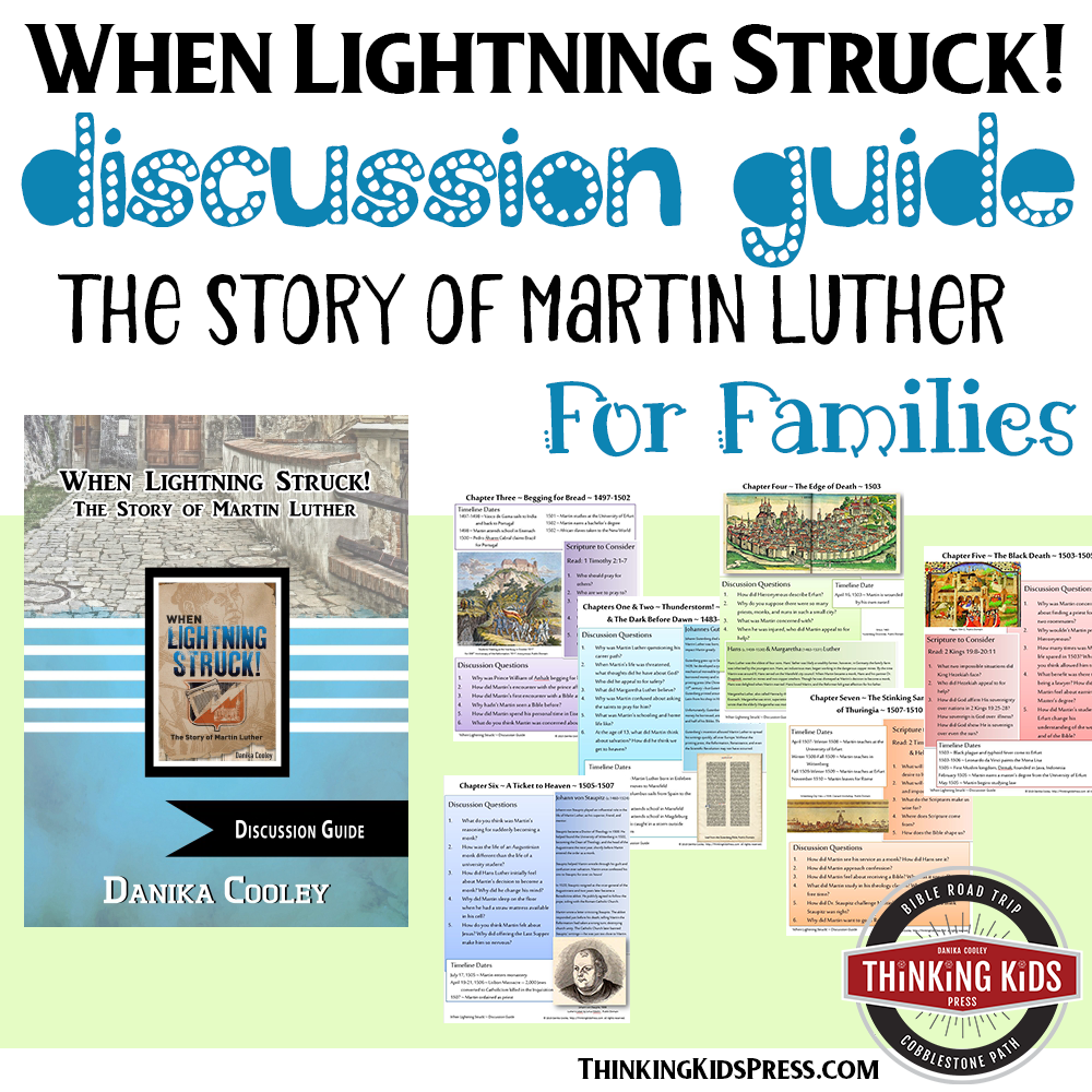 When Lightning Struck! Book Discussion Guide -- Learn about the story of Martin Luther!