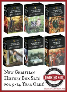 The wonderful Trailblazers Christian history books for 8-14 year olds now come in boxed sets!