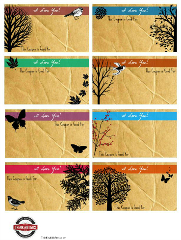 Free printable Love coupons in three designs!