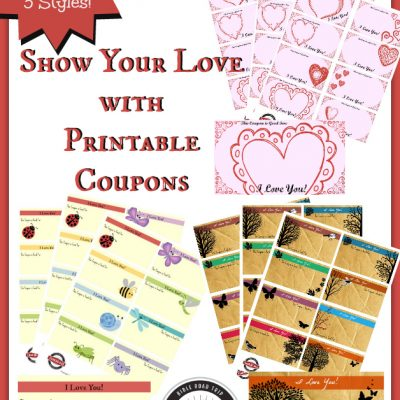 Valentine Coupons for Kids | Show your love!