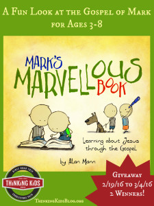 This is a fabulous book for kids ages 3-8 on the gospel of Mark! Giveaway ends 3/4/16 (2 copies).