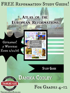 FREE Atlas of the European Reformations Study Guide for grades 4-12! Giveaway: Atlas ~ Ends 2/22/16. 5 Winners!