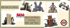 Gifts for Book Lovers ~ Kids and Teens. Check out these bookends!