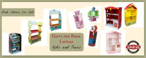 Gifts for Book Lovers ~ Kids and Teens. Check out these bookshelves!