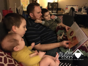 osh (& Amanda) & Family of The Pelsers with their copy of Wonderfully Made: God's Story of Life from Conception to Birth for kids from ages 5-11.