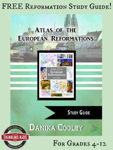 FREE Atlas of the European Reformations Study Guide for grades 4-12!