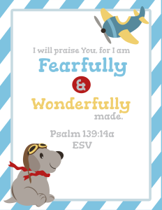 Free Wonderfully Made posters! We're celebrating Wonderfully Made: God's Story of Life from Conception to Birth is a sweet Scripture and science based picture book for ages 5-11.