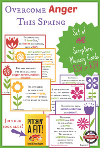 Overcome Anger This Spring - Grab your free 45-card Scripture memory set in ESV or KJV and join us for a book club!