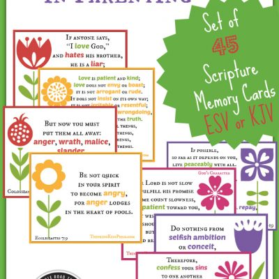 Overcome Anger in Parenting {Free 45-Card Scripture Memory Set}