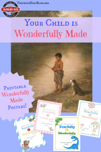 Your child is wonderfully made! AND Free Wonderfully Made posters! We're celebrating Wonderfully Made: God's Story of Life from Conception to Birth is a sweet Scripture and science based picture book for ages 5-11.