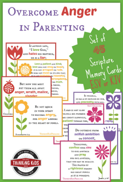 Check out these 45 free Overcoming Anger Scripture Memory Cards in either ESV or KJV!