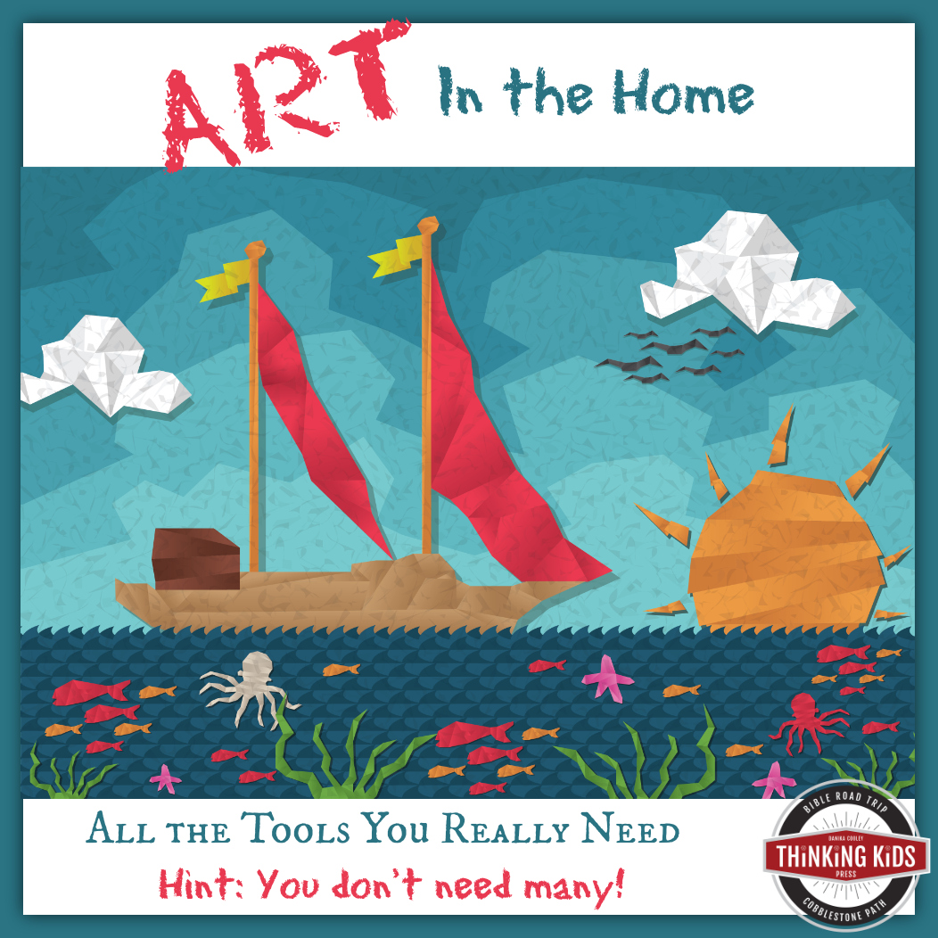 Art in the Home ~ All the Tools You Really Need (Hint: You don't need many!)