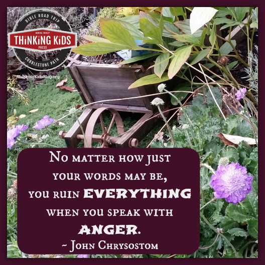 """""""No matter how just your words may be, you ruin everything when you speak with anger."""" ~ John Chrysostom"""