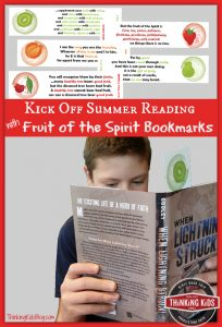 Kick Off Summer Reading with Fruit of the Spirit Bookmarks!