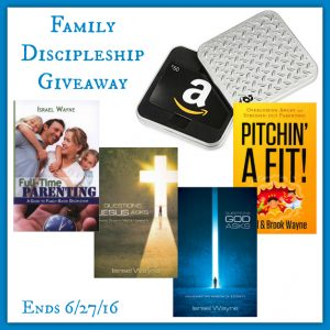 $100 Family Discipleship giveaway! Ends 6/27/16