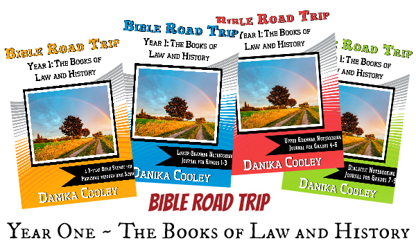 Bible Road Trip is a three year Bible curriculum with notebooking journals for preschool through high school!