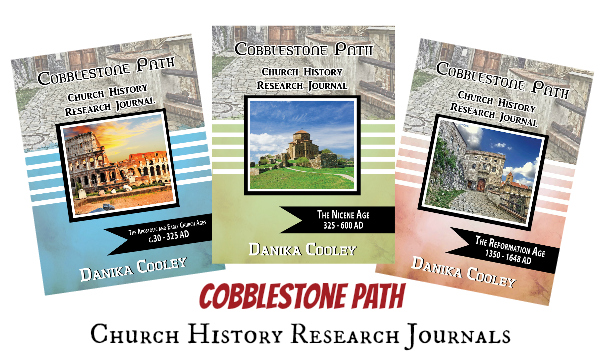 Cobblestone Path Church History Research Journals are a great way to help middle and high school students explore Church history!