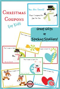 Christmas Coupons for Kids ~ A great stocking stuffer! FREE to Thinking Kids Subscribers.