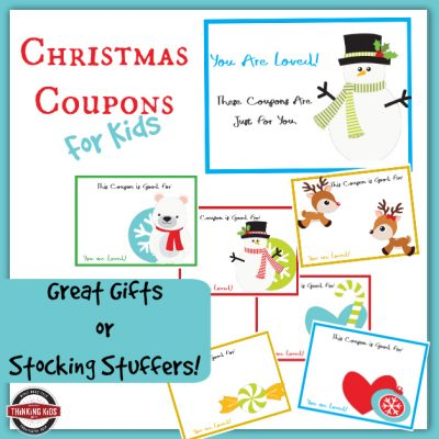 Christmas Coupons for Kids | Great Stocking Stuffers for Pennies