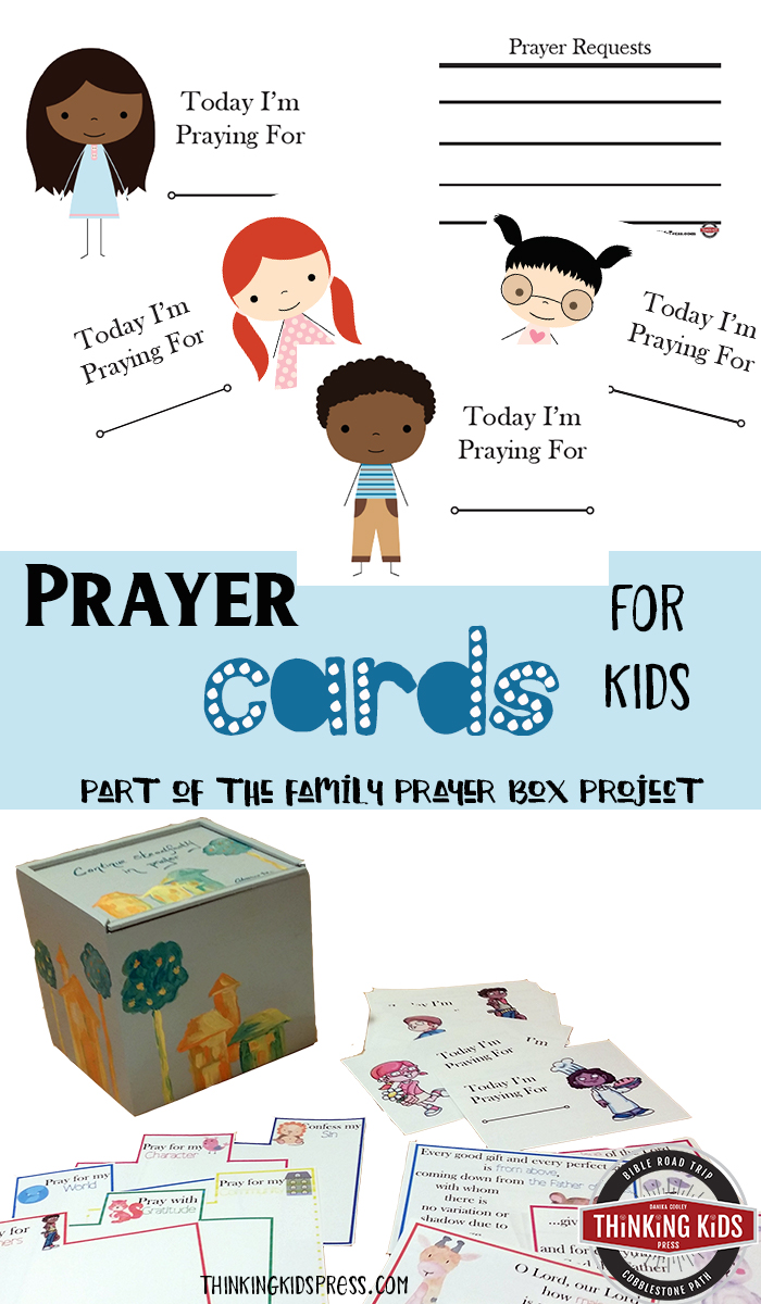 Prayer Cards for Kids Teach your kids to pray for others with these printable prayer cards for kids--a part of the family prayer box project!