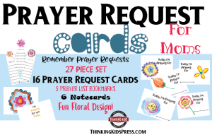 Prayer Request Cards for Moms
