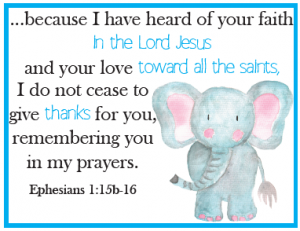 Pray with Gratitude Cards for Kids ~ A part of the Family Prayer Box project!