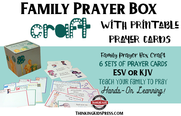 photograph regarding Printable Prayer Cards referred to as Loved ones Prayer Box Craft With Printable Prayer Playing cards