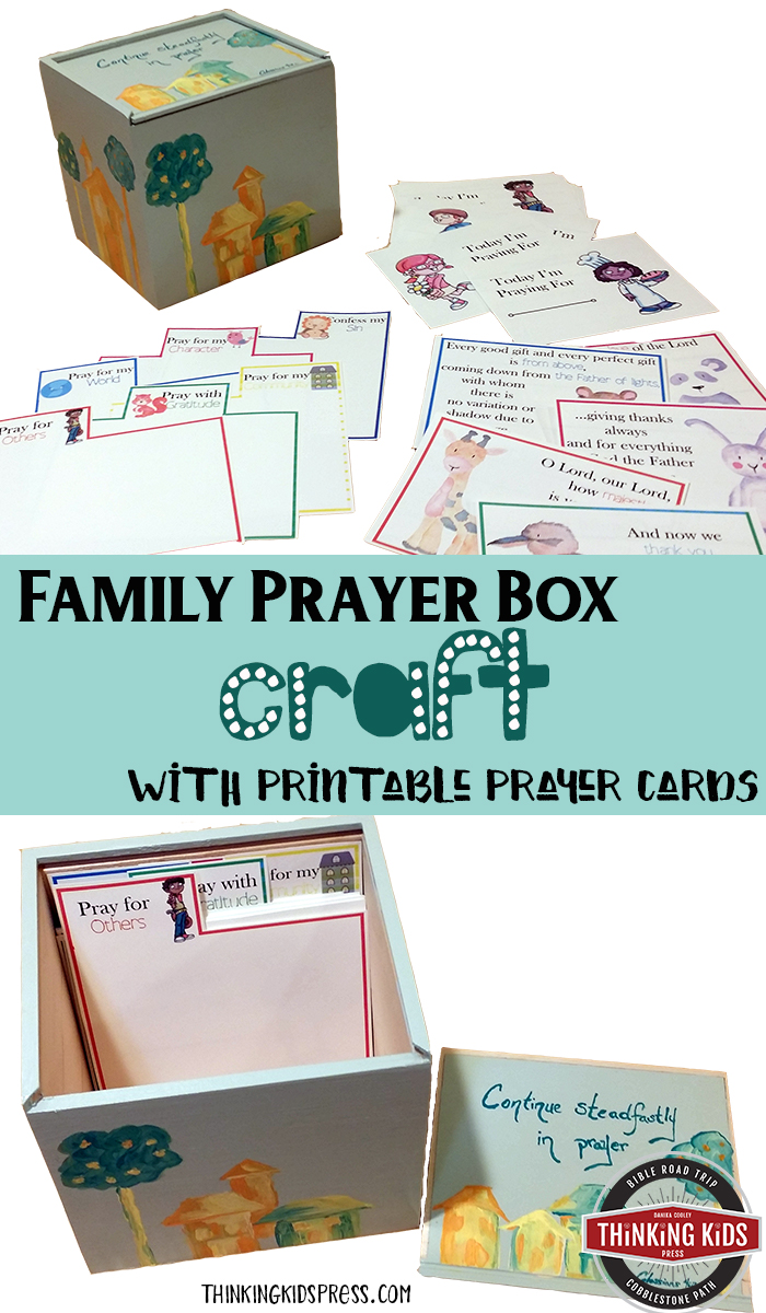 Family Prayer Box Craft With Printable Prayer Cards Make a Family Prayer Box Craft and six corresponding sets of Printable Prayer Cards for Kids to teach your children about prayer!