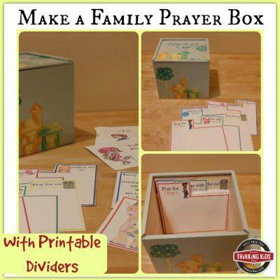 Make a Family Prayer Box With Printable Prayer Card Dividers