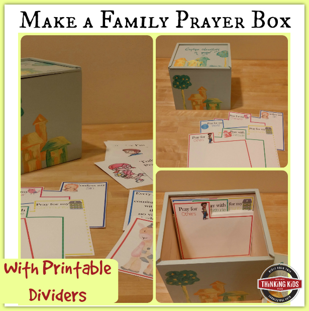 Make a Family Prayer Box {With Printable Prayer Card Dividers}