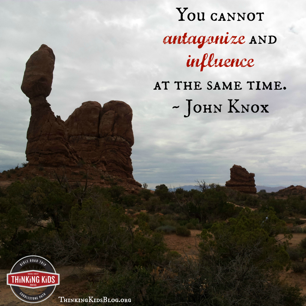 You cannot antagonize and influence at the same time. ~ John Knox