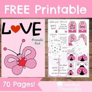 Love Lessons and Activities (Love Pack from Proverbial Homemaker)