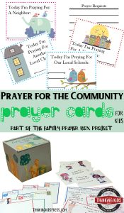 Prayer for the Community Prayer Cards for Kids