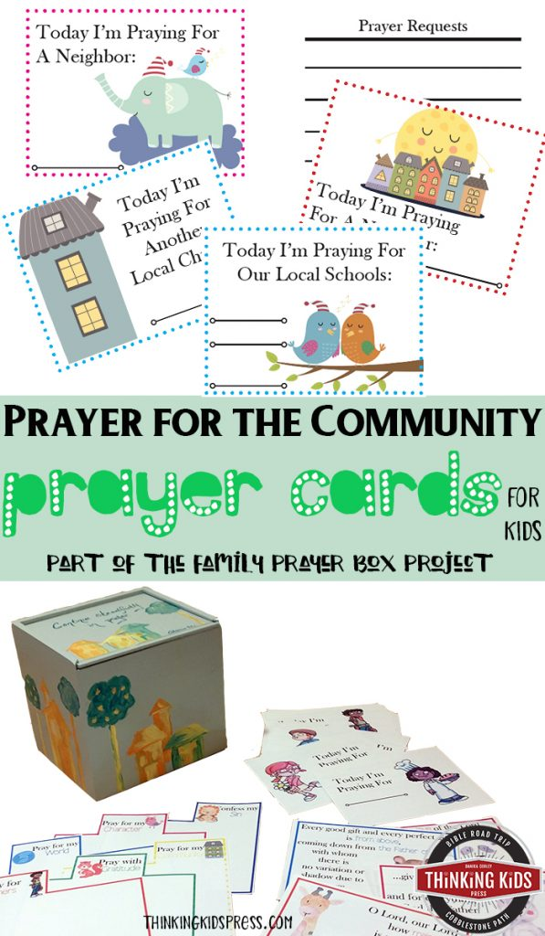 Prayer for the Community Prayer Cards for Kids