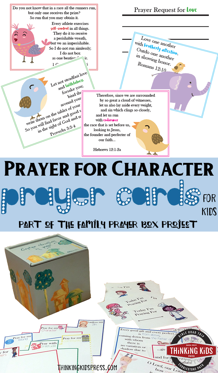 Prayer for Character Prayer Cards for Kids Teach your kids about praying for their own character with Prayer for Character Prayer Cards for Kids.