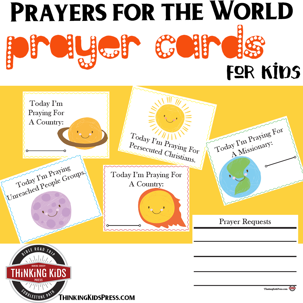 Prayers for the World Prayer Cards for Kids