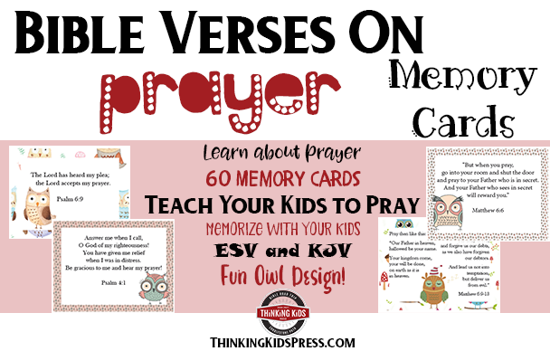 Bible Verses on Prayer Memory Cards