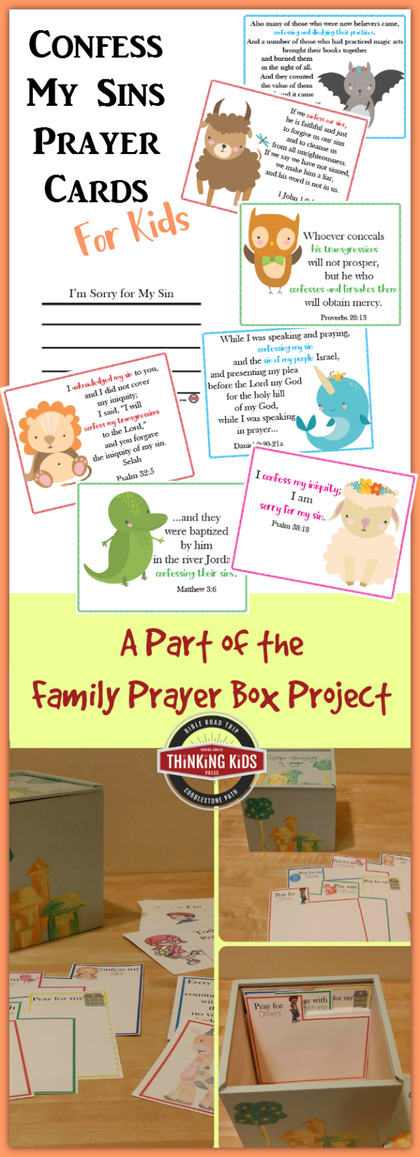 Confess My Sins Prayer Cards for Kids