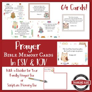 Prayer Bible Memory Verse Cards